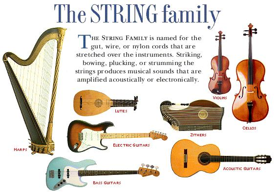 Printables What Are The String Instrument string family mr shank the makes up more than half of orchestra although many instruments look similar they are very different in size and sound